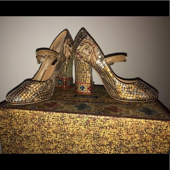 5593b0a8558 Dolce   Gabbana Shoes - Dolce   Gabbana Sequence Camel Mary Jane ...